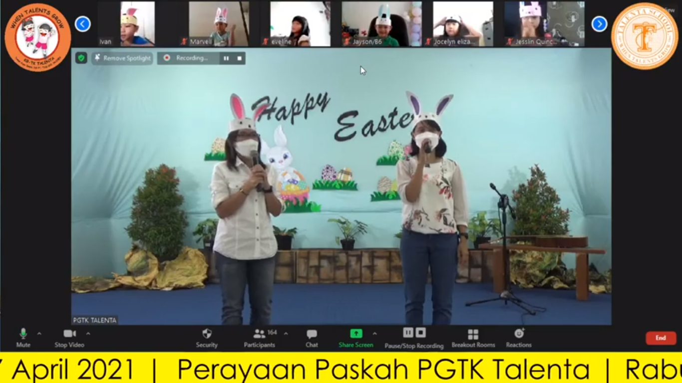 PERAYAAN PASKAH PGTK TALENTA | RABU, 7 APRIL 2021